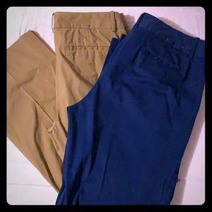 J. Crew Bundle Stretch Pants 8R & 8